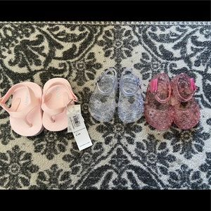 Baby jelly's and flip flops